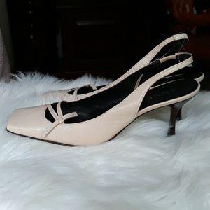 Anne Klein Beige Leather Heels